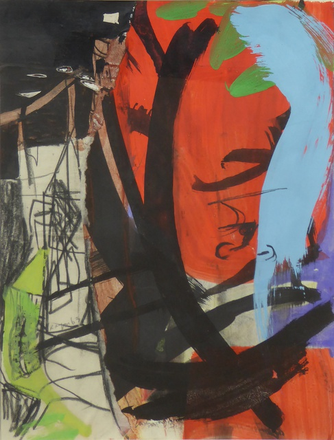 Red Leaf and Tower, Peter Lanyon