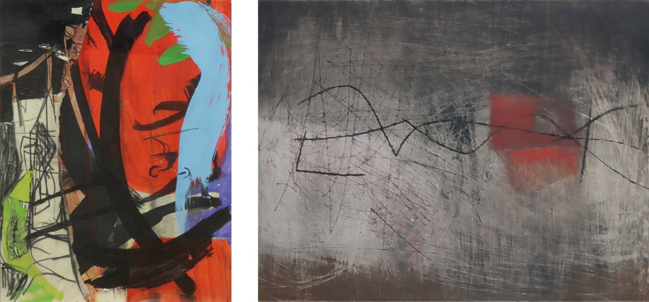 COLLECT | MODERN ST IVES + BRITISH ART  RED LEAF AND TOWER (1963) LANDSCAPE RED (1962)  PETER LANYON ALEXANDER MACKENZIE