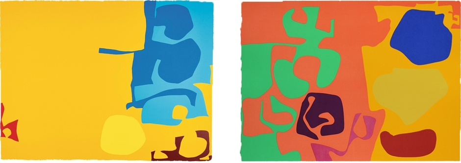 Blues Dovetailed in Yellow: April 1970 January 1973: 9  signed silkscreen print, edition of 100 signed silkscreen print, edition of 72  PATRICK HERON: PRINTS FROM THE 1970S  12 MAY – 1 SEP