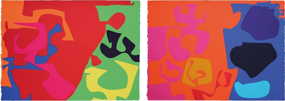 January 1973: 7 January 1973: 8  signed silkscreen print, edition of 100 signed silkscreen print, edition of 72  PATRICK HERON: PRINTS FROM THE 1970S  12 MAY – 1 SEP